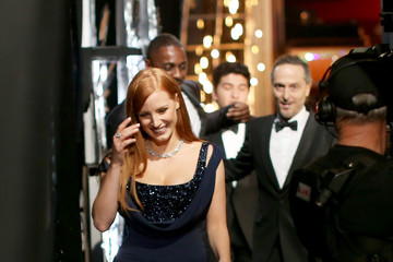 Jessica Chastain Behind the Scenes at the Oscars