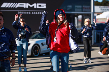 Jessica Hart Glamour And Mercedes-Benz AMG Driving Academy Experience At Laguna Seca