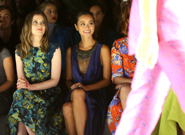 Monique Lhuillier - Front Row - Spring 2016 New York Fashion Week: The Shows