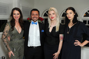 (L-R) Janie Bryant, Alan Semsar, Melinda Lee and Jessica Pare attend Jessica Pare and Janie Bryant host Melinda Lee Hold's jewelry preview on December 2, 2015 in Los Angeles, California.