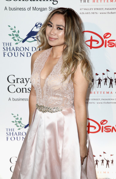 The Walt Disney Family Museum's 2nd Annual Gala [clothing,dress,shoulder,hairstyle,fashion model,cocktail dress,premiere,fashion,long hair,joint,jessica sanchez,singer,walt disney family museum,the disneyland resort,california,anaheim,grand californian hotel spa,disney,gala,2nd annual gala]
