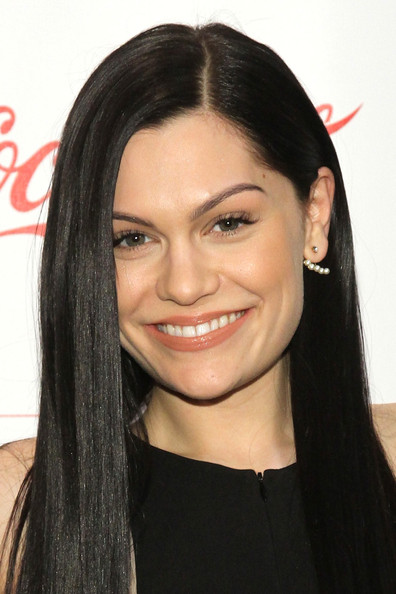 Backstage at the Z100 & Coca-Cola All Access Lounge  [hair,face,eyebrow,hairstyle,black hair,forehead,lip,chin,long hair,beauty,jessie j,all access lounge,new york city,hammerstein ballroom,z100,coca-cola,jingle ball 2014,pre-show]