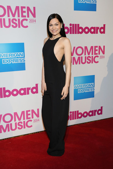 Billboard Women in Music Luncheon [billboard women in music luncheon,jessie j,clothing,shoulder,dress,carpet,red carpet,premiere,joint,cocktail dress,flooring,fashion,new york city,cipriani wall street]