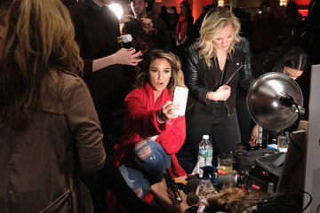 Jessie James Decker The American Heart Association's Go Red For Women Red Dress Collection 2017 Presented By Macy's at Fashion Week in New York City - Backstage