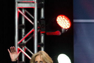 Jill Biden Obamas and Bidens Attend USO Comedy Show for Military Appreciation Month