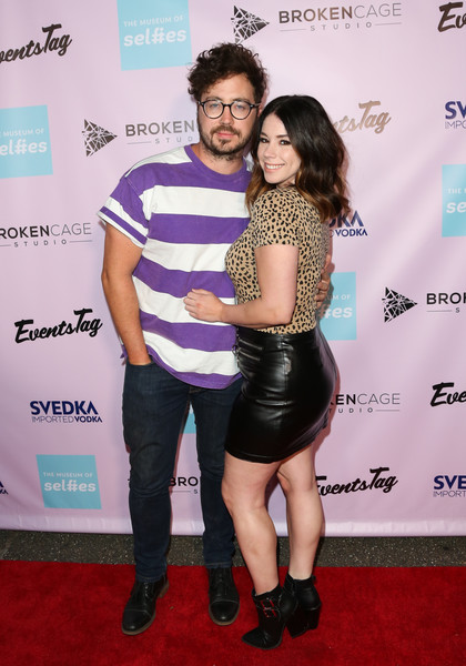 The Museum Of Selfies VIP Grand Opening Party [carpet,red carpet,joint,footwear,event,flooring,dress,premiere,jillian rose reed,r,artrist marty shannon,california,glendale,museum of selfies,museum of selfies vip,l,grand opening party,grand opening]