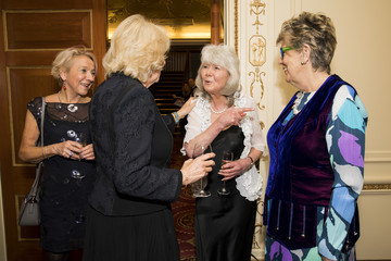 Jilly Cooper The Duchess Of Cornwall Attends The National Literacy Trust 25th Anniversary Reception