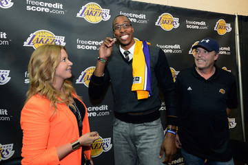 Jim Buss Los Angeles Lakers Introduce Dwight Howard