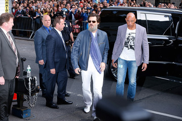 Jim Carrey Celebrities Visit 'The Late Show With David Letterman'