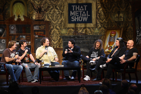 """VH1 Classic Presents """"That Metal Show: Anvil Special"""" [vh1 classic presents ``that metal show: anvil special,that metal show,event,audience,conversation,performance,musician,music,sitting,convention,sacha gervasi,musicians,jim florentine,anvil,l-r,five,taping,band]"""
