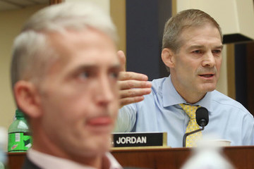 Jim Jordan Rod Rosenstein And FBI Director Wray Testify At House Hearing On 2016 Election