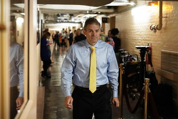 Jim Jordan House Republicans Hold Closed Conference Meeting On Immigration