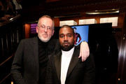 Jim Moore and Kanye West attend Jim Moore Book Event At Ralph Lauren Chicago on October 28, 2019 in Chicago, Illinois.