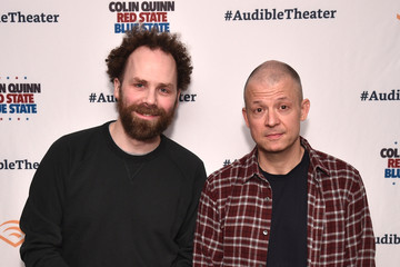 Jim Norton Sam Roberts Opening Night For Colin Quinn's 'Red State Blue State' At Audible's Minetta Lane Theatre In NYC