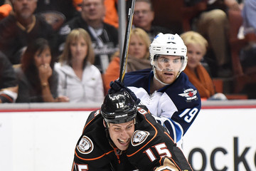 Jim Slater Winnipeg Jets v Anaheim Ducks - Game One