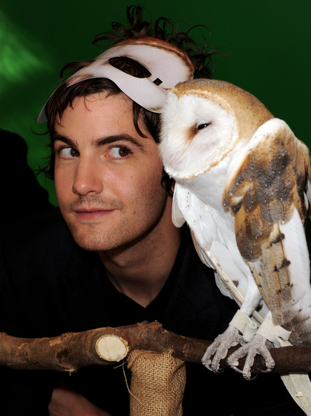 "Jim Sturgess Actor Jim Sturgess poses with an owl at the pre-party for the premiere of ""Legend of The Guardians: The Owls of Ga'Hoole"" at the Chinese Theater on September 19, 2010 in Los Angeles, California."