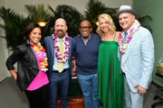 """Sheinelle Jones, Greg Garcia, Al Roker, Kelly Devine and Mike O'Malley attend the Broadway premiere of """"Escape to Margaritaville"""" the new musical featuring songs by Jimmy Buffett at the Marquis Theatre on March 15, 2018 in New York City."""
