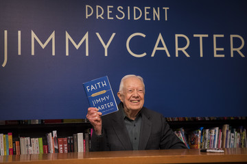 Jimmy Carter Jimmy Carter Signs Copies Of His New Book 'Faith: A Journey For All'