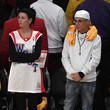 Jimmy Iovine Celebrities At The Los Angeles Lakers Game