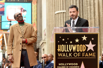 Jimmy Kimmel Snoop Dogg Honored With Star On The Hollywood Walk Of Fame