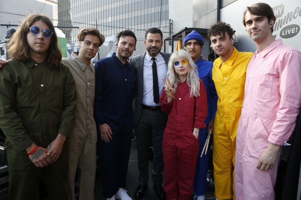 """ABC's """"Jimmy Kimmel Live"""" - Season 15 [jimmy kimmel live,season,people,social group,event,community,team,jimmy kimmel,guests,comedians,lineup,human-interest subjects,abc,paramore,weeknight]"""