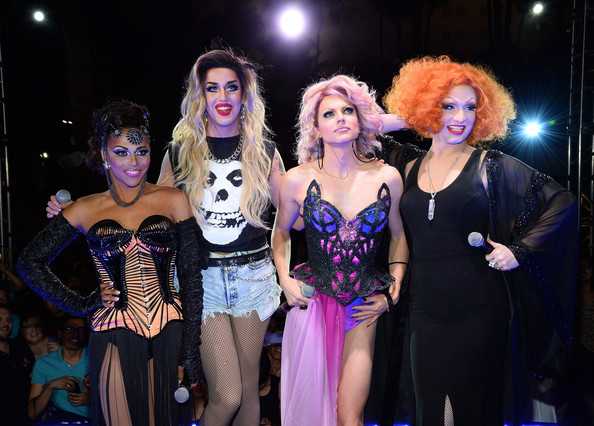 'RuPaul's Drag Race' Season 6 Finale [rupauls drag race,performance,event,lady,performing arts,fashion,performance art,stage,fun,musical,musical theatre,jinkx monsoon,cast member,cast members,l-r,new tropicana las vegas,season six finale,season,finale,viewing party]