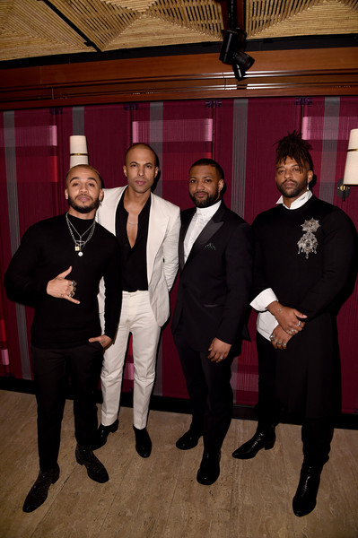 Sony BRITs After-Party [event,suit,formal wear,tuxedo,team,brits,marvin humes,aston merrygold,oritse williams,jb gill,england,london,sony,jls,party,2020 brit awards,tuxedo m.,ceremony,universal pictures,public relations,record label,sony corporation,tuxedo]