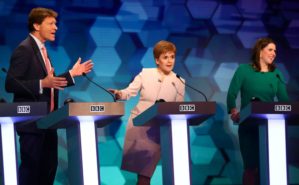 BBC Election Debate Takes Place In Cardiff [green,event,performance,conversation,debate,world,television program,media,richard tice,nicola sturgeon,jo swinson,liberal democrat,election debate takes place in cardiff,part,scottish,bbc,brexit party,snp]