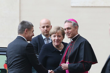 Joachim Sauer Pope Francis Meets European Leaders