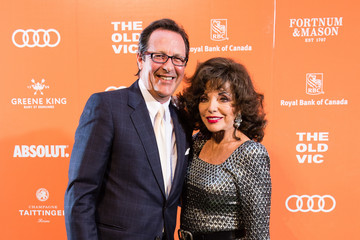 Joan Collins Percy Gibson The Old Vic Midsummer Party - Arrivals