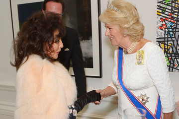 Joan Collins The Duchess of Cornwall Attends the Royal Academy of Arts Annual Dinner
