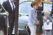 Sarah Jessica Parker (R), Matthew Broderick (L) and their son James Broderick attend the Joan Rivers memorial service at Temple Emanu-El on September 7, 2014 in New York City. (Photo by Kris Connor/Getty Images