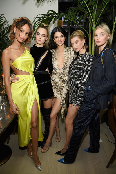 The Times Square Edition Premiere [fashion,event,fashion design,haute couture,dress,leg,fun,cocktail dress,formal wear,joan smalls,kendall jenner,hailey bieber,cara delevingne,elsa hosk,l-r,new york city,times square edition premiere]