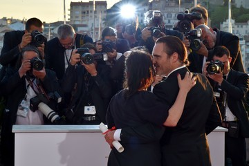 Joaquin Phoenix Winner's Photocall - The 70th Annual Cannes Film Festival
