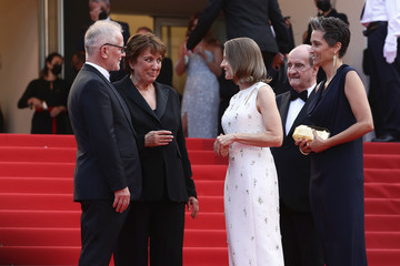 """Jodie Foster Thierry Frémaux """"Annette"""" & Opening Ceremony Red Carpet - The 74th Annual Cannes Film Festival"""