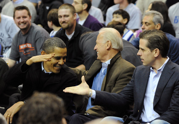 Barack Obama, Joe Biden, Hunter Biden - Joe Biden and Hunter Biden Photos -  Duke v Georgetown - Zimbio