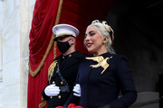 Lady Gaga arrives for the inauguration of U.S. President-elect Joe Biden on the West Front of the U.S. Capitol on January 20, 2021 in Washington, DC. During today's inauguration ceremony Biden becomes the 46th President of the United States.