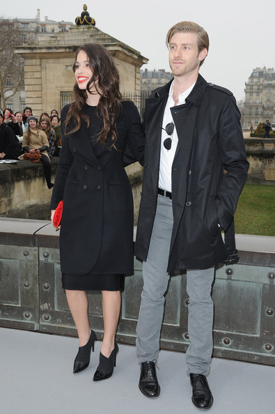 Christian Dior - Outside Arrivals - PFW F/W 2013 [fashion,clothing,overcoat,outerwear,street fashion,coat,footwear,event,fashion design,haute couture,christian dior,joe foster,chelsea tyler,ready-to-wear,part,paris,christian dior fall,l,show,paris fashion week]