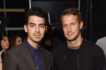 Joe Jonas Brendan Fallis Todd Snyder Backstage at New York Fashion Week