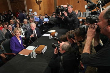 Joe Lieberman Trump's Selection for Education Secretary Betsy DeVos Testifies During Her Senate Confirmation Hearing