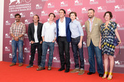 (from second left)  Actor Ronie Gene Blevins, director David Gordon Green, actors Nicolas Cage and Tye Sheridan and producers Christopher Woodrow and  Lisa Muskat attend the 'Joe' Photocall during The 70th Venice International Film Festival at Palazzo Del Casino on August 30, 2013 in Venice, Italy.