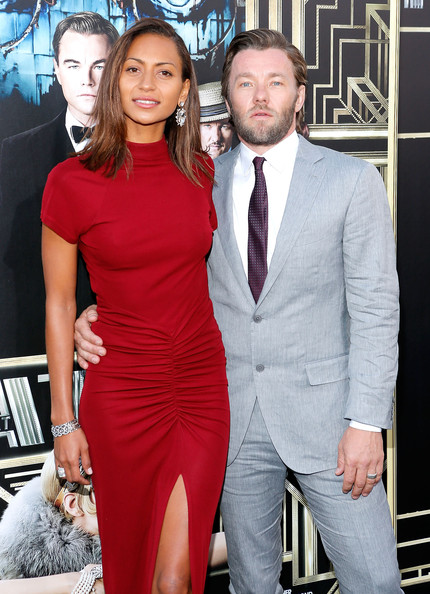 Joel Edgerton with former fiancee and grilfriend Alexis Blake