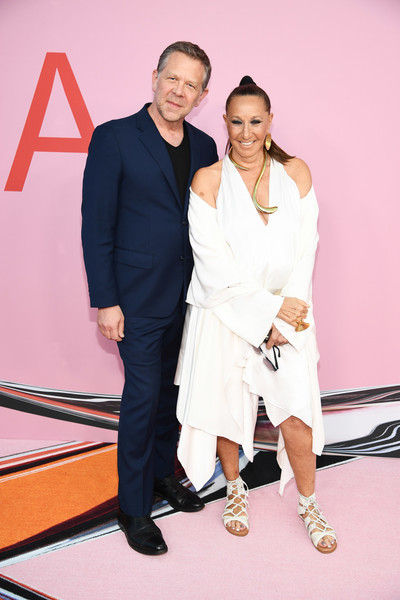 CFDA Fashion Awards - Arrivals [fashion,red,yellow,event,fashion design,carpet,footwear,red carpet,premiere,flooring,arrivals,joel towers,donna karan,cfda fashion awards,brooklyn museum of art,new york city]
