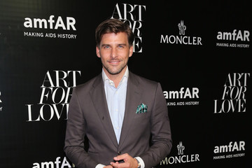Johannes Huebl Remo Ruffini, Moncler Chairman And Kevin Robert Frost, amFAR CEO Host Private Viewing And Dinner For Art For Love: 32 Photographers Interpret The Iconic Moncler Maya Jacket