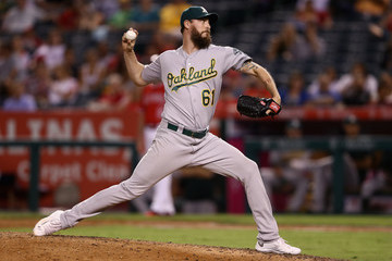 John Axford Oakland Athletics v Los Angeles Angels of Anaheim