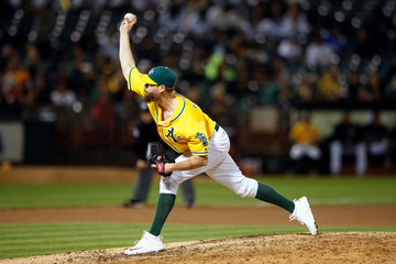 John Axford Los Angeles Angels of Anaheim v Oakland Athletics