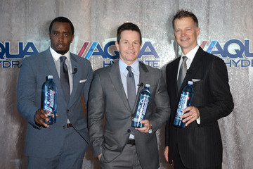 "John Cochran Sean ""Diddy"" Combs And Mark Wahlberg Host Press Conference To Announce Their Newest Venture, Water Brand Aquahydrate"