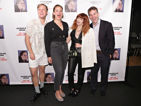'Jacqueline Novak: Get On Your Knees' Opening Night [event,fashion,premiere,carpet,fashion design,jacqueline novak: get on your knees,jacqueline novak: get on your knees,cherry lane theatre,new york city,john early,jacqueline novak,mike birbiglia,natasha lyonne]