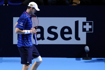 John Isner ATP Swiss Indoor Basel - Day Two