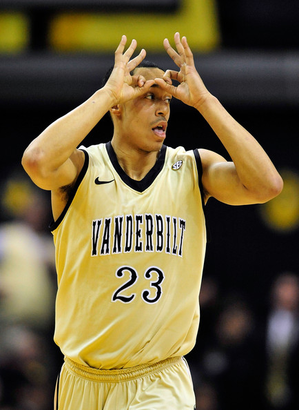 John Jenkins John Jenkins #23 of the Vanderbilt Commodores reacts after making a three-point basket against the Kentucky Wildcats at Memorial Gym on February 12, 2011 in Nashville, Tennessee.